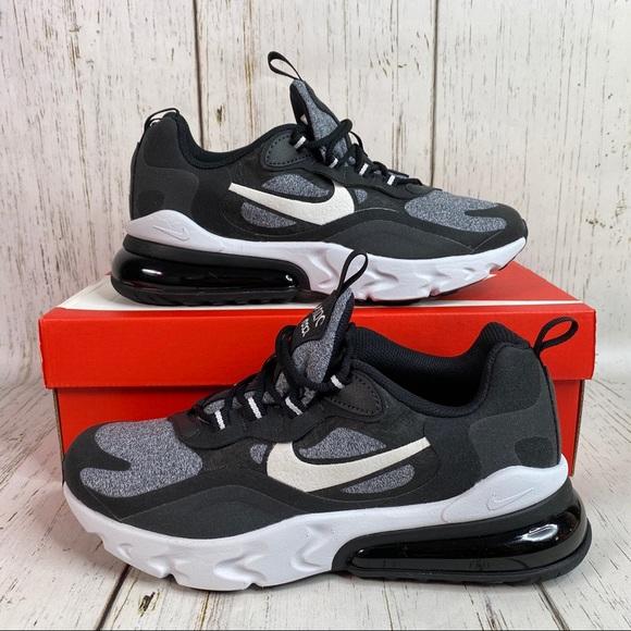 New Nike Air Max 27 React Shoes Black